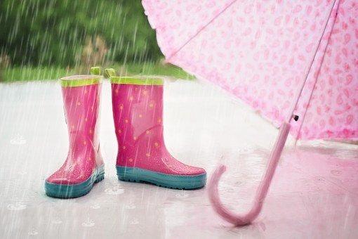 regen en spelen in de regen als kind. Maar regen geeft gedachten van weemoed.